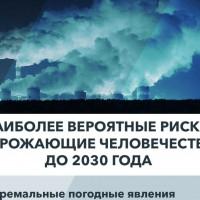 Отчет о глобальных рисках-2020: экологические проблемы угрожают безопасности человечества